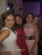 Ball Gown V-neck Tulle Floor-length Crystal Detailing Prom Dresses